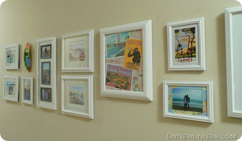 vacation gallery wall